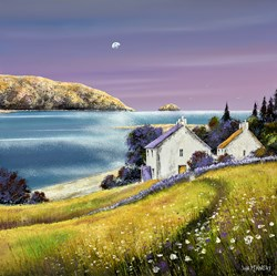 Estuary Flowers by John Mckinstry - Original Painting on Box Canvas sized 20x20 inches. Available from Whitewall Galleries